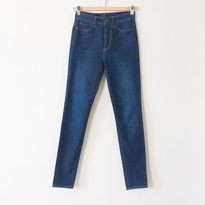 Uniqlo High Rise Skinny Tapered Ankle Jeans Sz 24